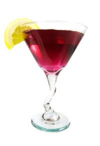 Chambord gives the French Martini its classic reddish color.