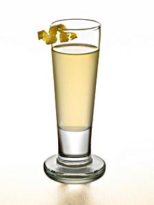 Tall shot of limoncello