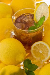 Limoncello iced tea