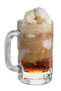 Root beer float with Baileys
