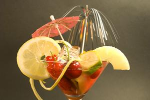 Ambrosia with Fruit and Garnish