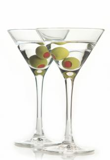 Basic gin martinis
