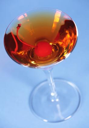 A Rob Roy cocktail