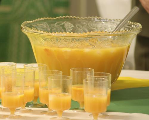 orange trash drink