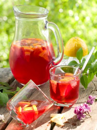 Sangria with cognac