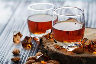 Amaretto and almonds