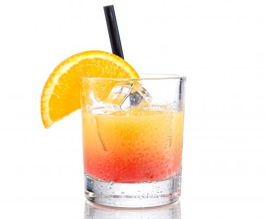 Drink with orange juice vodka and grenadine lovetoknow for Cocktail orange