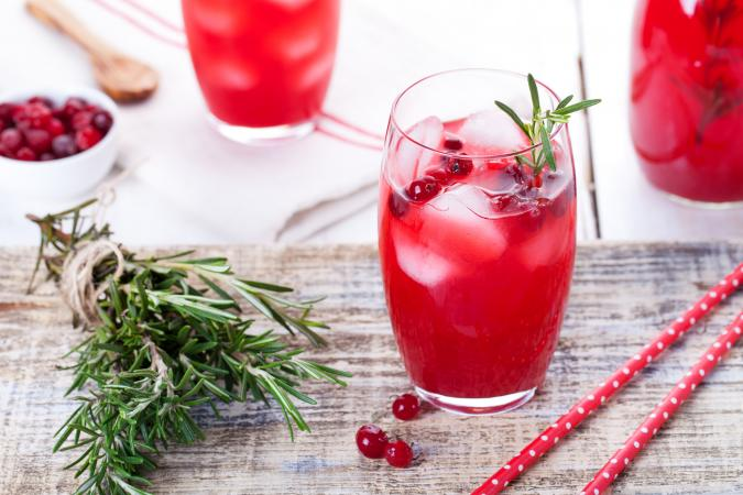 Red evergreen cocktail