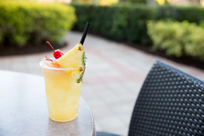 Coco-basil mojito cocktail