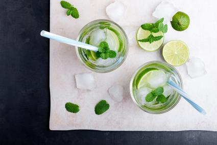 Vodka mojito cocktail