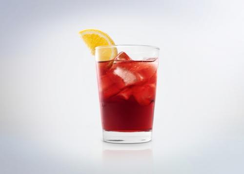 Cranberry sparkler non-alcoholic cocktail