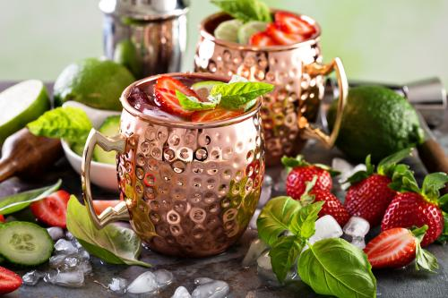strawberry mint mule mocktail