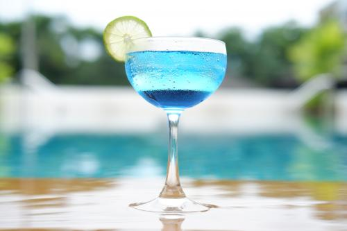 Blue dolphin cocktail