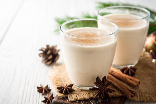 slippery nog cocktail