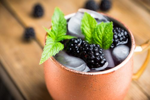 Blackberry Moscow Mule summer cocktail