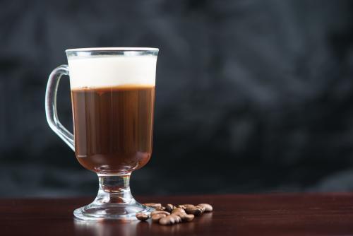 Nonalcoholic Irish coffee