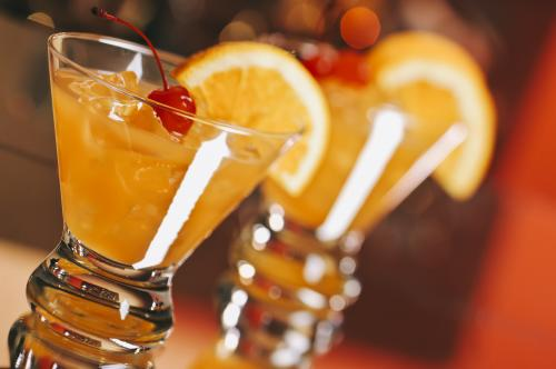 Harvey Wallbanger cocktails
