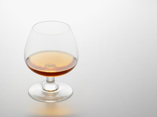 Glass of cognac