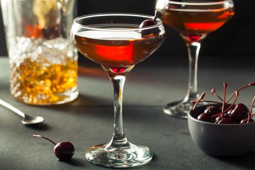 Manhattan cocktails