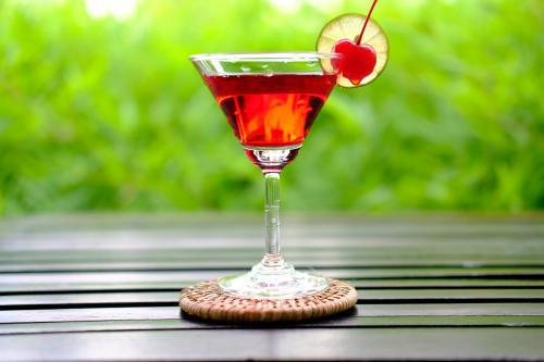 watermelon Jolly Rancher martini