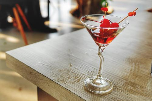 cherry Jolly Rancher martini