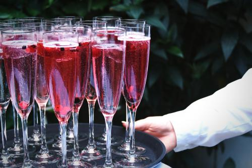 Pink Champagne mocktail