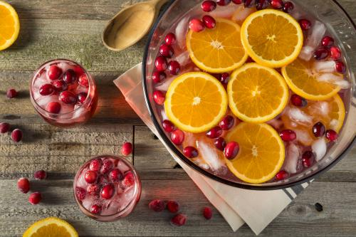 Orange-cranberry punch