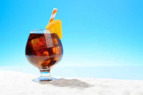 Orange coffee cola