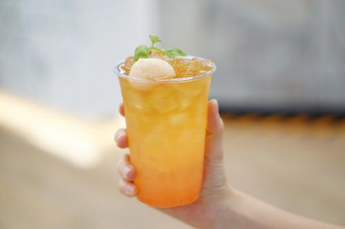 Lychee ginger coconut cocktail