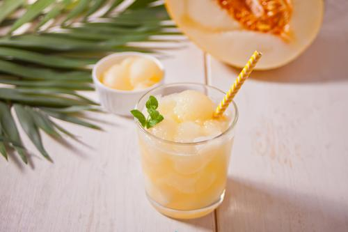 Cantaloupe vodka slush