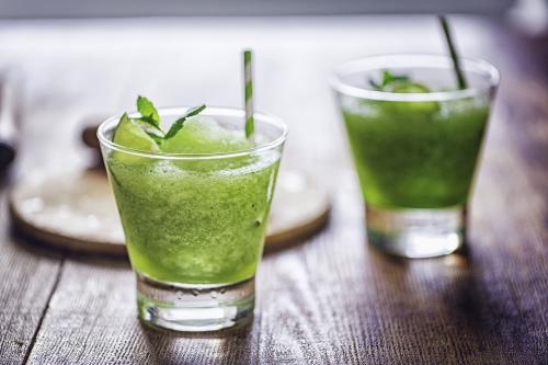 Frozen mint-ginger mocktail