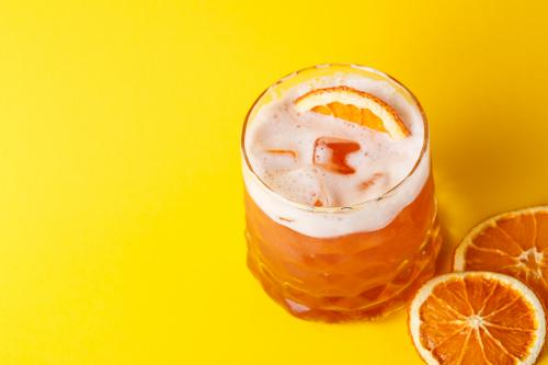 Orange ginger cocktail