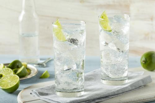 Vodka soda lime cocktail