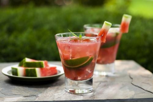 Fuzzy watermelon cocktail