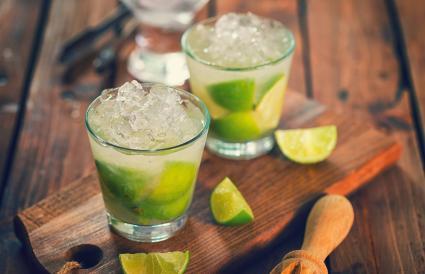 Refreshing Drink Caipirinha Cocktail