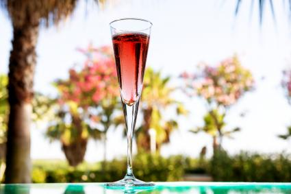 Glass of Kir Royal