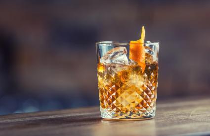 Orange Maple Penicillin cocktail