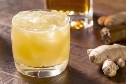 Alcoholic Scotch Penicillin Cocktail