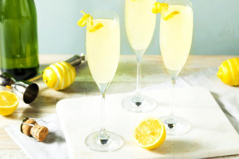 Lemon French 75 Cocktail