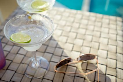 Margaritas and sunglasses in Cozumel