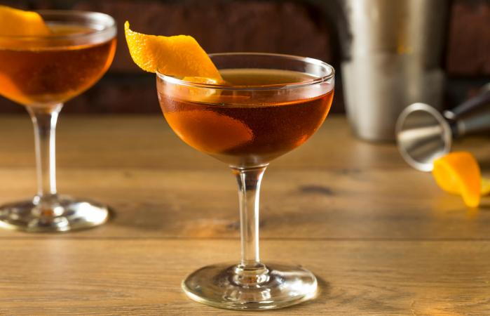 Alcoholic Martinez Cocktail with Gin