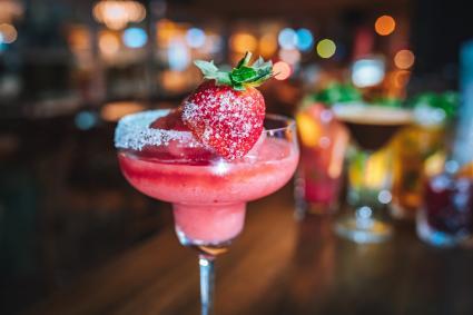 Tequila rose strawberry dessert Margarita