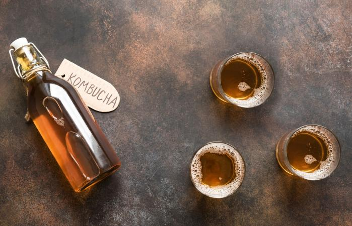 Kombucha fermented drink
