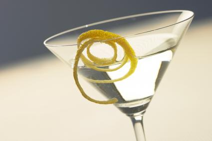 Cucumber vodka martini