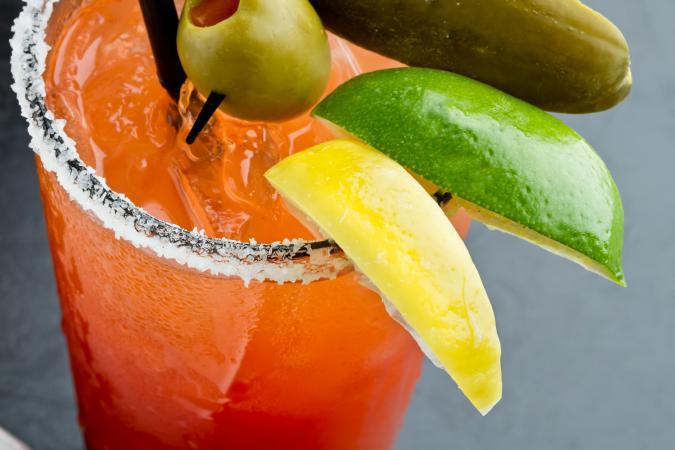 Caesar cocktail drink
