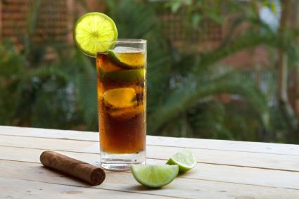 Coconut Cuba Libre and Fine Cuban Cigar