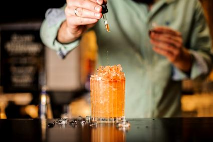 Bartender adds bitter to summer cocktail