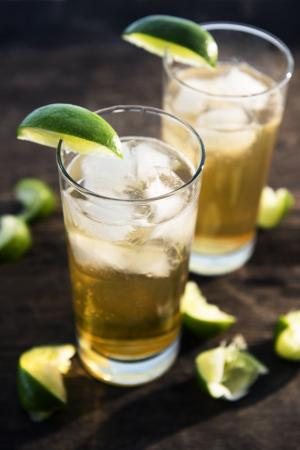 Dark and stormy cocktails