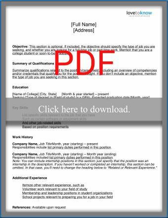 Basic_College_Student_Resume_Template_PDF