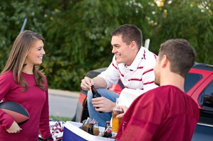 tailgating students